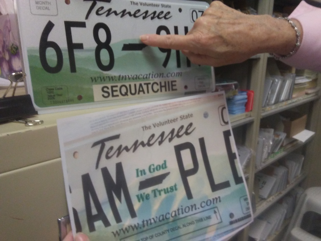 dunlap news - tennessee approves new license plate, increase in tag fees