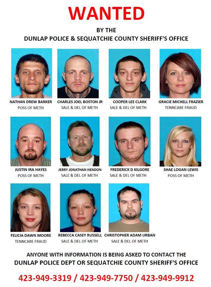 Dunlap News - Police arrest four more on indictment list, seven